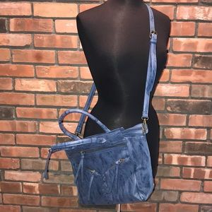 💙🍁NEW Charming Charlie's Blue Fall Bag Large